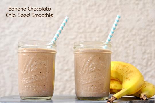 Banana Chocolate Chia Seed Smoothie