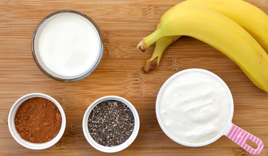 Banana Chocolate Smoothie Ingredients