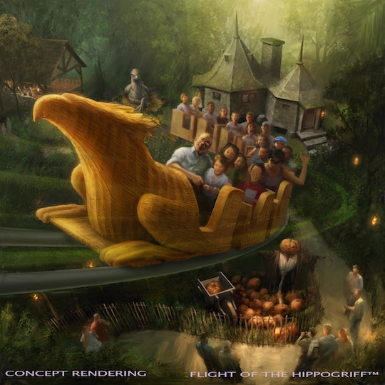 Flight of Hippogriff rendering