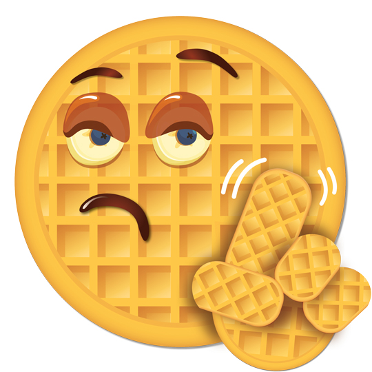 Say It Best With an Eggoji + Behind the Scenes at Eggo ... Cartoon Waffle With Face