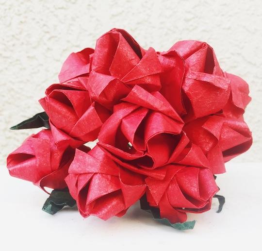 Origami Rose Bouquet