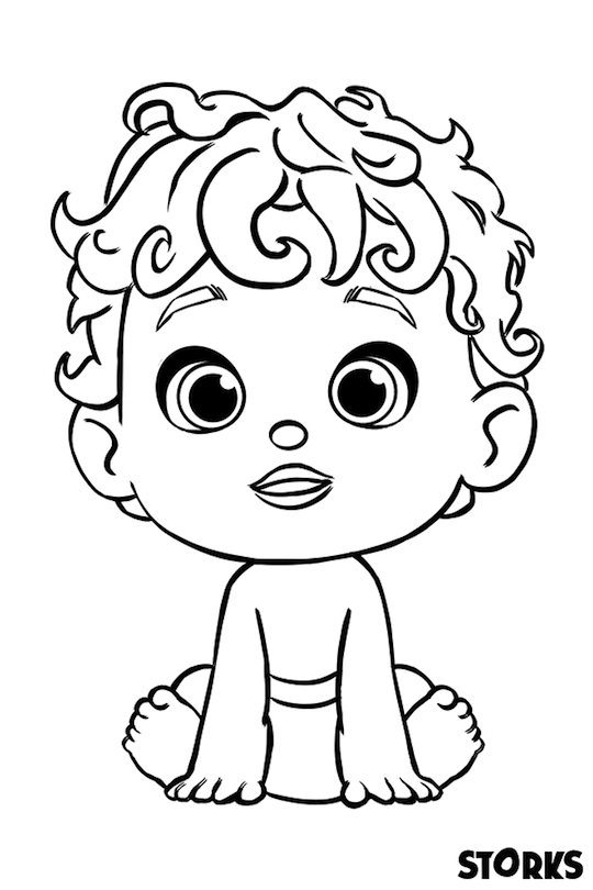 Storks Movie Printables Coloring Page Baby