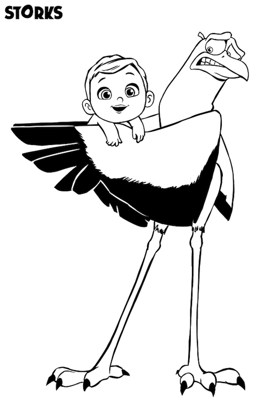 Storks movie printables Coloring Sheet