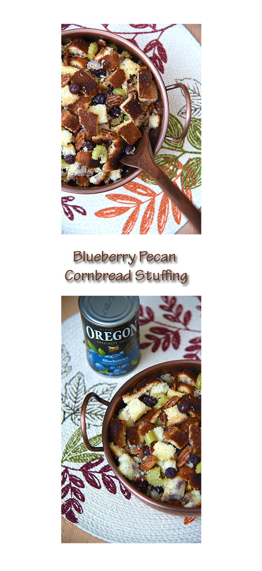 Thanksgiving Blueberry Pecan Cornbread Stuffing