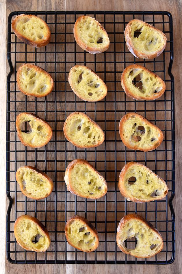 Grilled Sourdough Bread - Cheese Crostini