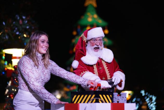 Hilary Duff and Santa