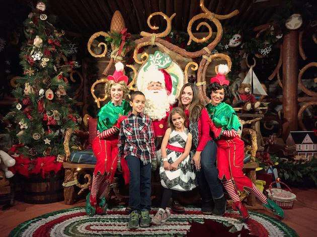 Santa at Disneyland
