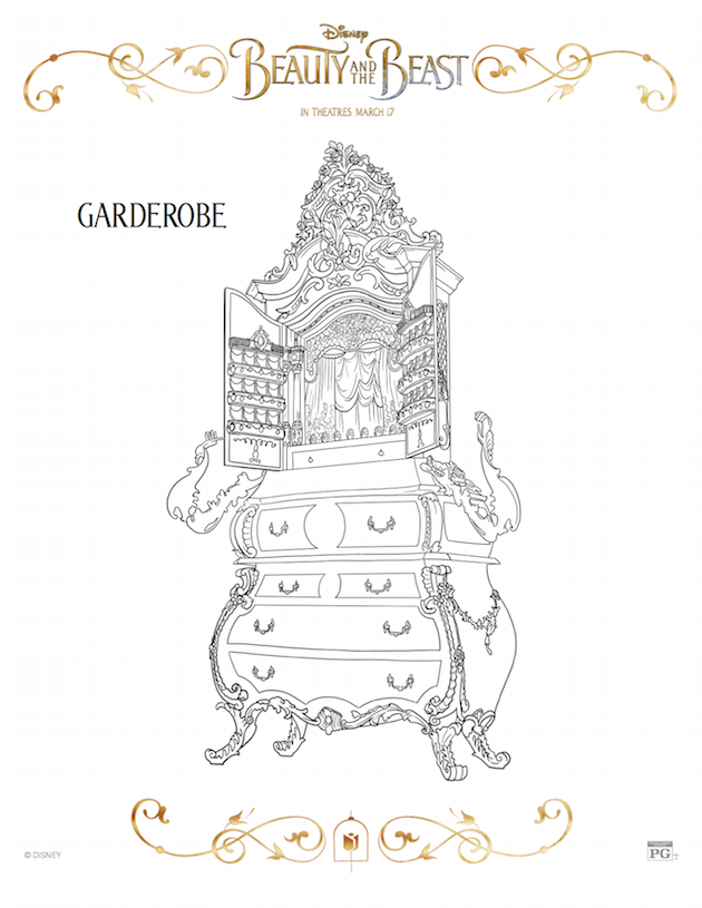 Garderobe - Beauty and the Beast