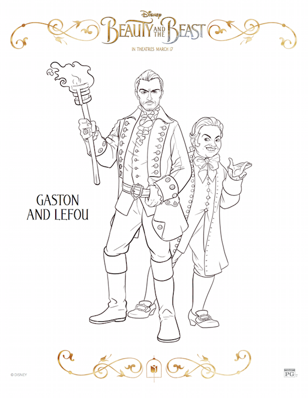 Gaston and Lefou - Beauty and the Beast