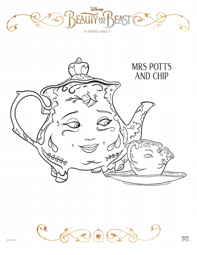 Mrs Potts and Chip - Beauty and the Beast