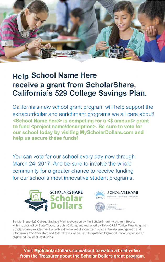 Voting Flyer - ScholarShare