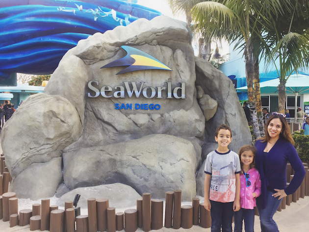 Family at SeaWorld - Road Trip