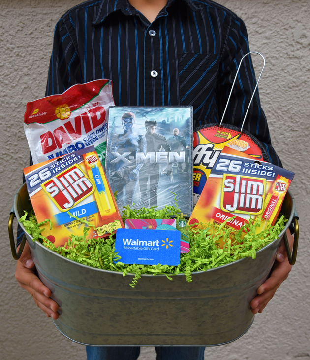 Diy bold easter basket for guys easter basket for guys negle Choice Image