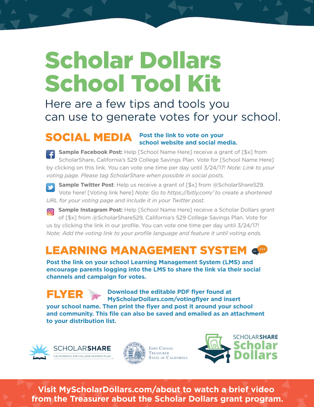 Scholar Dollars School Tool Kit - SholarShare