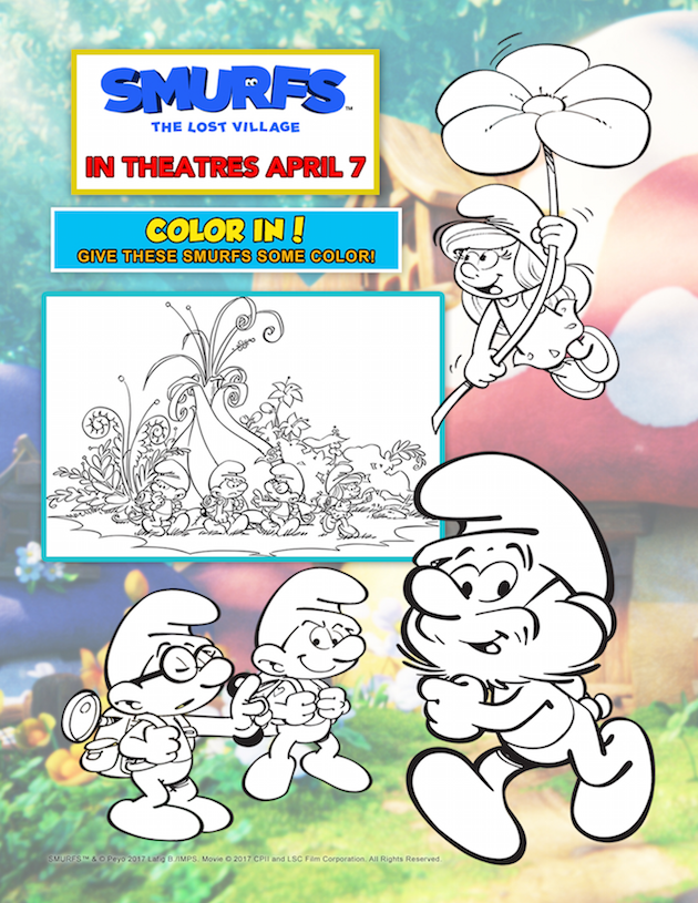 Smurfs: The Lost Village Coloring Page