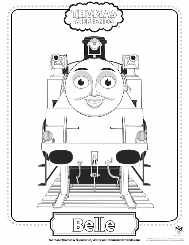 Belle Coloring Sheet - Thomas the Tank Engine