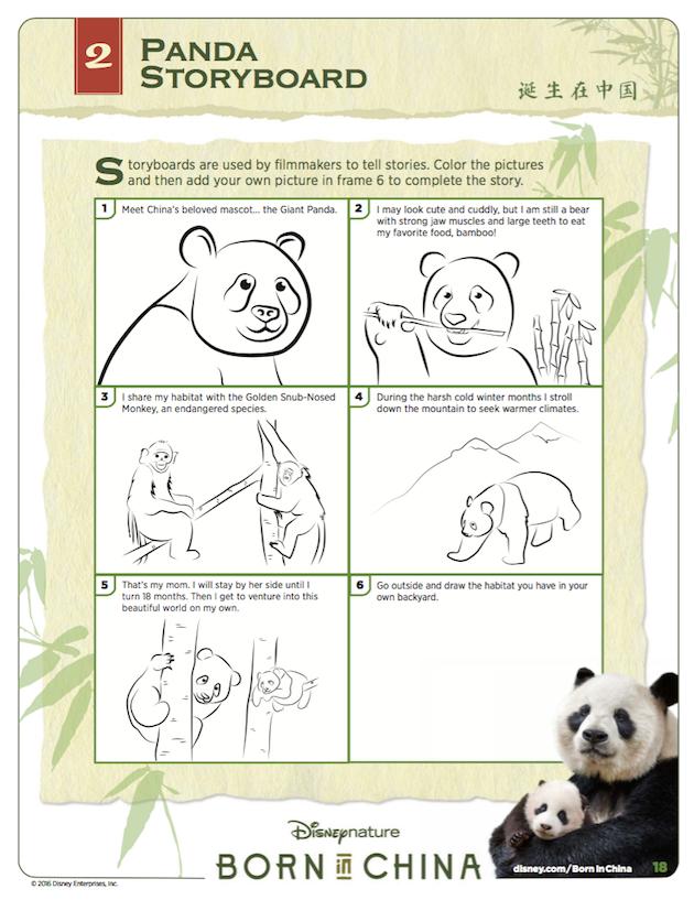 Panda Storyboard - Disneynature's Born in China