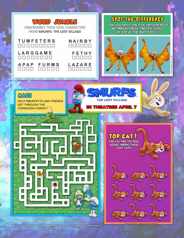 Smurfs: The Lost Village Maze