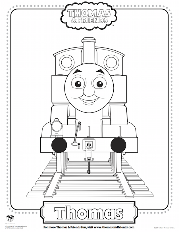 Thomas Coloring Sheet - Thomas the Tank Engine