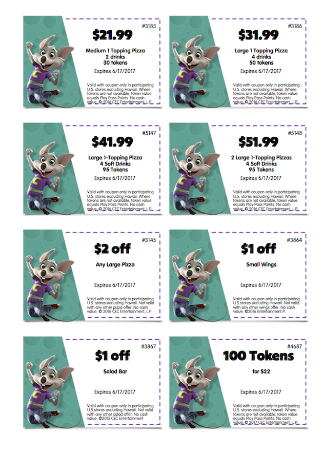 Chuck E Cheeses Coupons