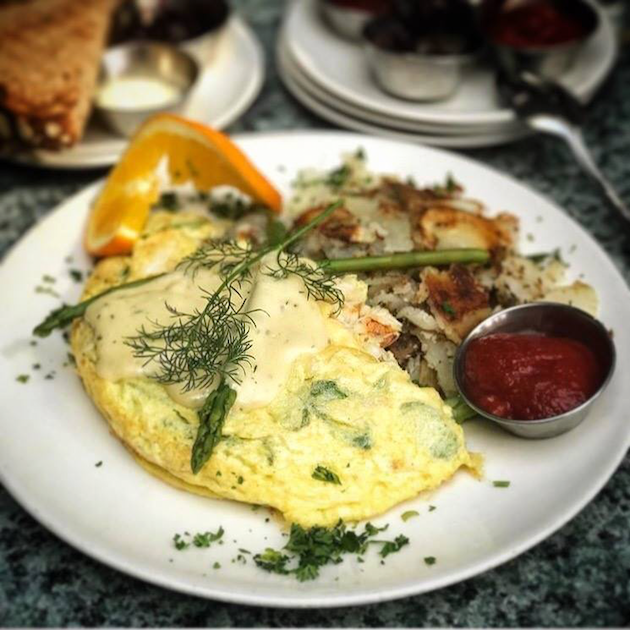 Dungeness Crab Omelette - Mother's Day Brunch