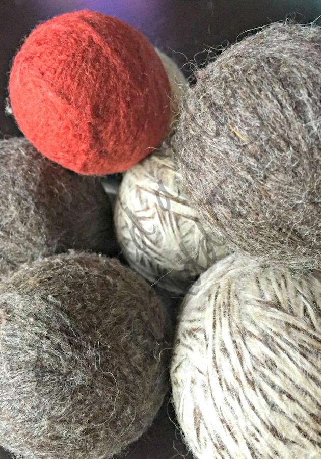 Homemade Dryer Balls