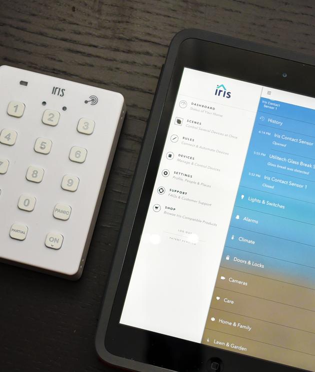 Iris App and Keypad