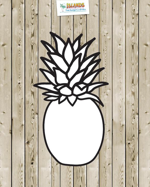 Pineapple Coloring Sheet