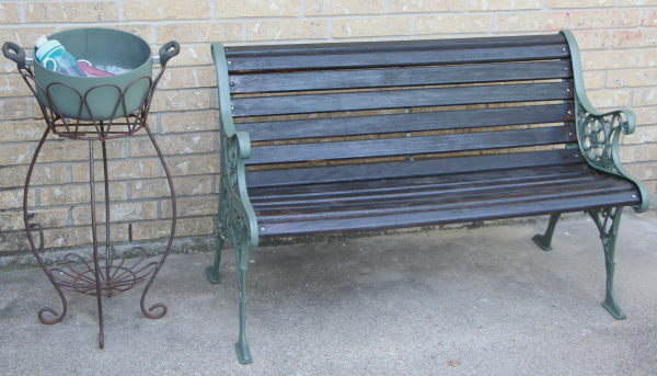 Refinished Patio Bench