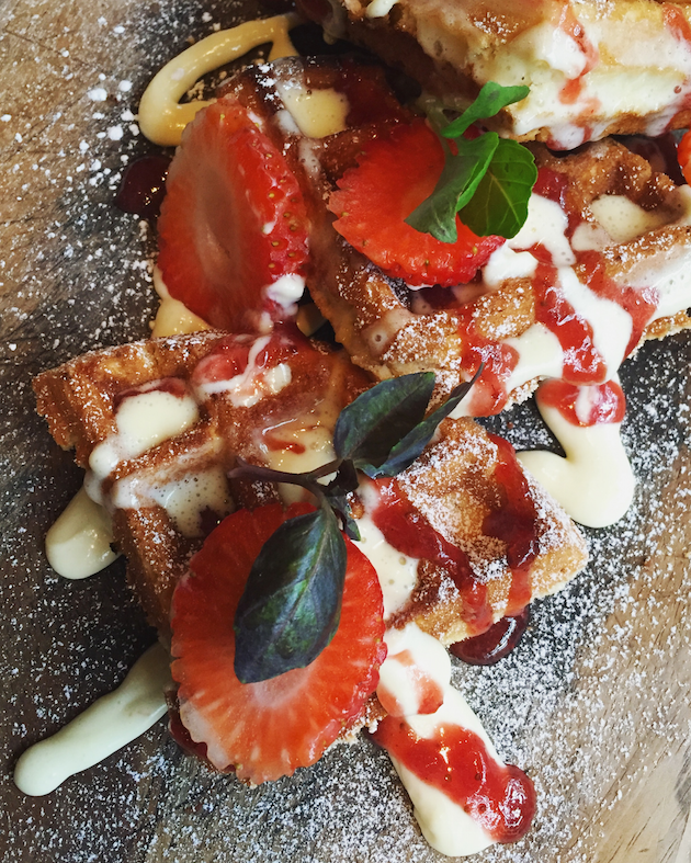 Strawberry Basil Waffle - Mother's Day Brunch