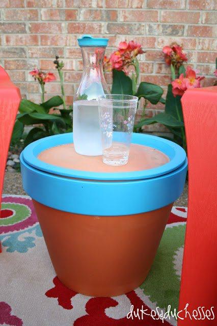 Terracotta Pot Table
