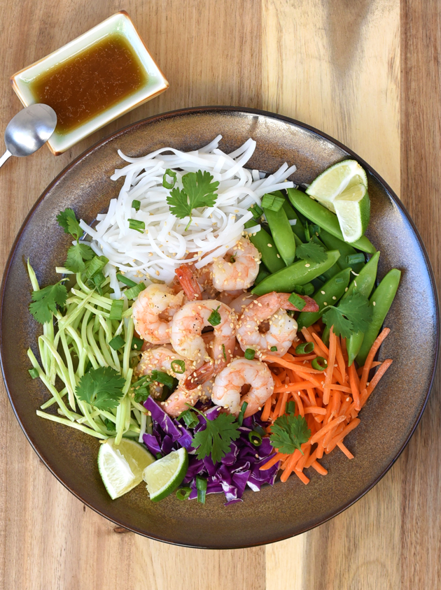 Asian Rice Noodle Shrimp Salad