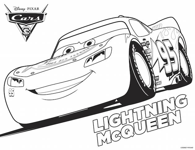 Cars 3 Lightning McQueen Coloring Sheet
