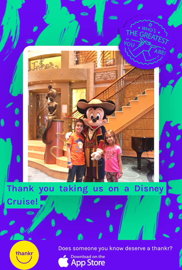 Disney Cruise Thank You Note