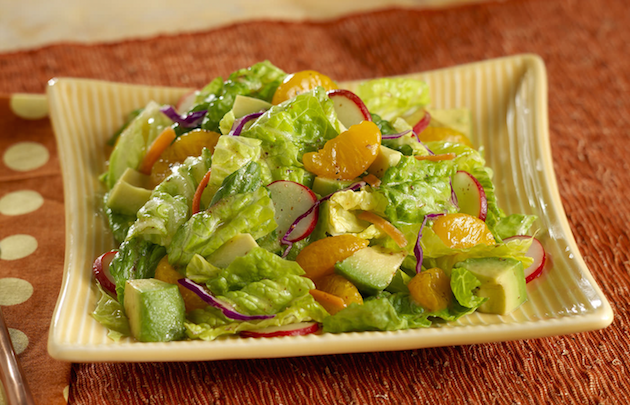 Romaine Mandarin Oranges and Avocado Salad