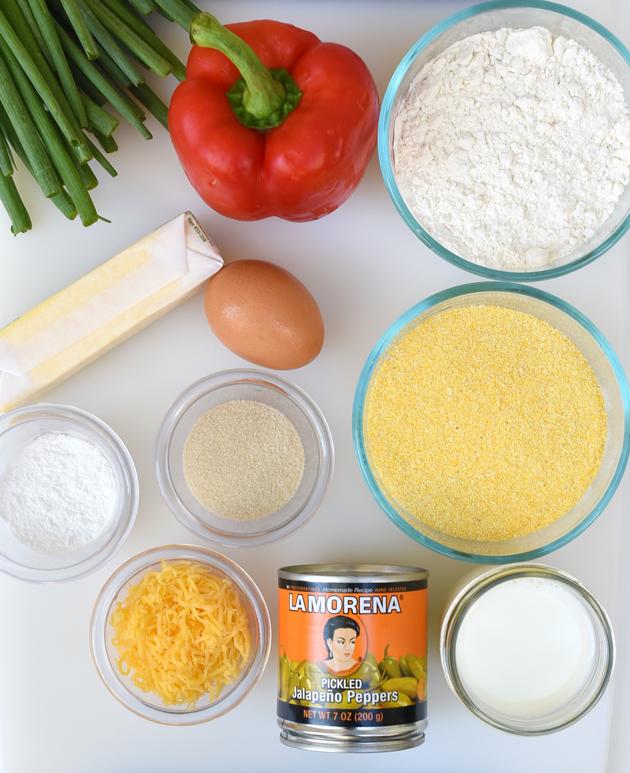 Jalapeno Cornbread Ingredients