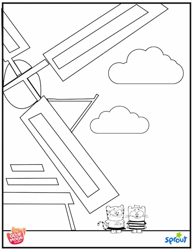 Ollie and Moon Amsterdam Coloring Sheet