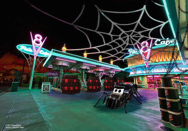 Cars Land Flos Cafe Halloween