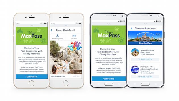 Disney MaxPass on App