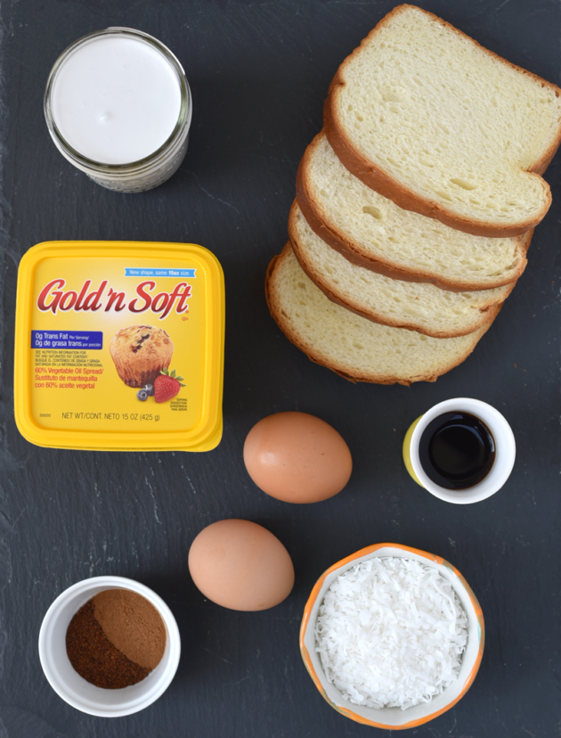 Coconut French Toast Ingredients