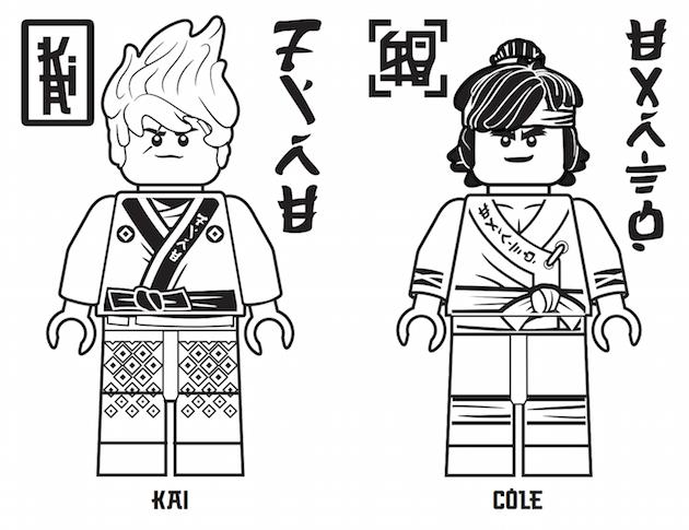 The lego ninjago movie printables for Kai ninjago coloring pages