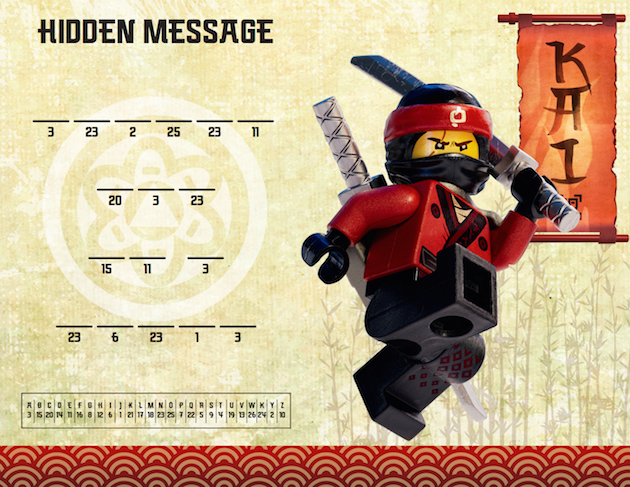 LEGO NINJAGO Hidden Message