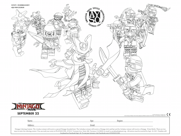 Ninjago Coloring Contest