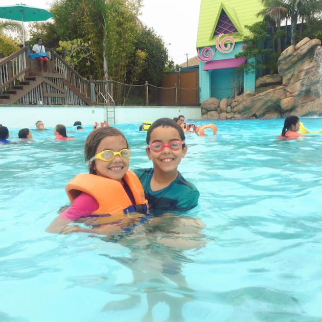 Siblings at Water Park