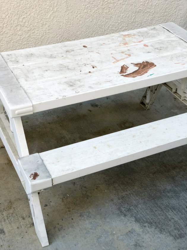 Paint Stained Table