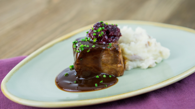 Beef Short Rib with Smashed Potatoes
