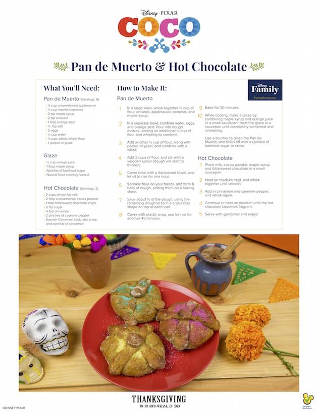 Coco Pan de Muerto and Hot Chocolate Recipe