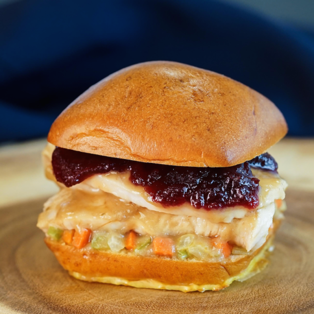 Roasted Turkey Slider with Cranberry Sauce