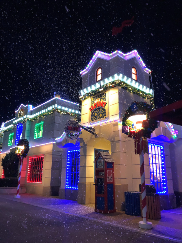 Snow Over Fun Town at LEGOLAND