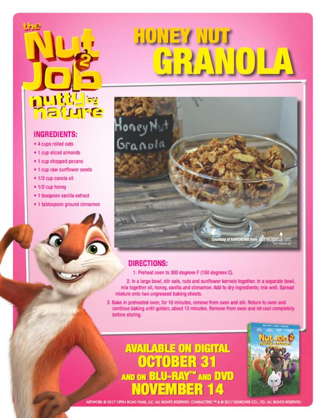 The Nut Job Honey Nut Granola